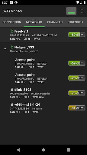 WiFi Monitor: analyzer of WiFi networks modavailable screenshots 3