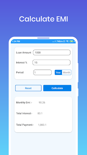 Emi calculator for personal loan  screenshots 3