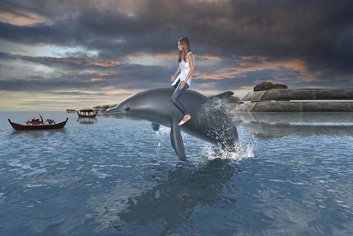 Dolphin Transport Passenger Beach Taxi Simulator 5.1 screenshots 1