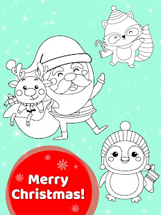 Happy Kids Animated Christmas Coloring Book