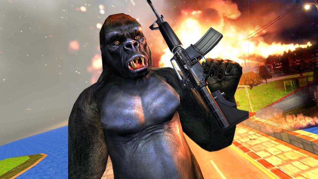 Screenshot 6 de Ataque de monos enojados guerra de supervivencia para android
