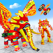 Flying Monster Truck Transform Elephant Robot Game