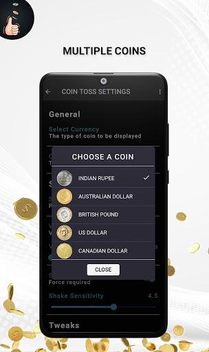 Coin Toss - Simple Coin Flip Simulator 1.0.5 screenshots 2