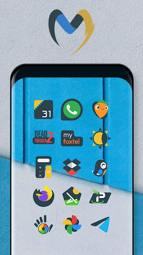 Download APK: Material UI Dark Icon Pack v1.15 [Patched]