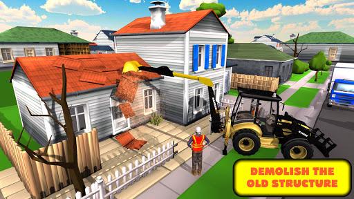 JCB Excavator Crane 2021: 3D City Construction screenshots 7