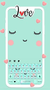 Cute Sweet Face Keyboard Theme Screenshot