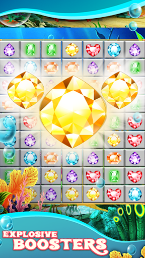 Jewels Star Atlantis Quest match 3 ss2