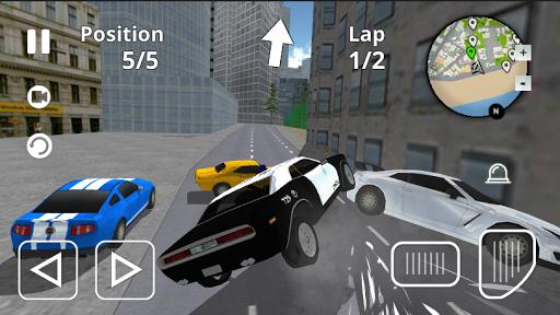 police car city driving screenshot 2