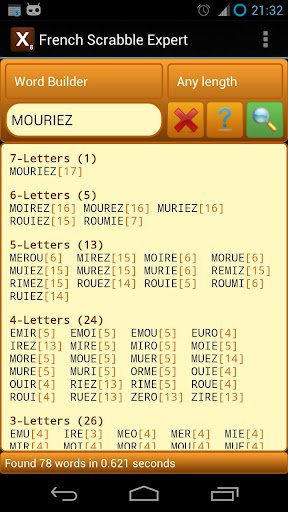 Word Expert - French (for SCRABBLE) 3.5 screenshots 1