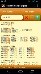 Word Expert - French (for SCRABBLE) 3.7.1 screenshots 1