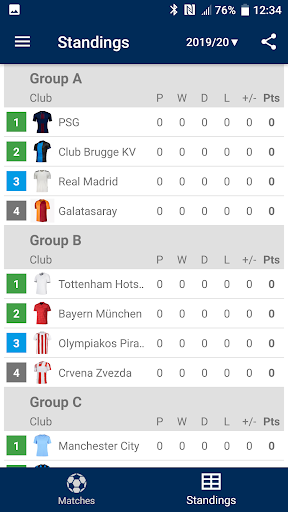 Foto do Results for Champions League 2020/2021