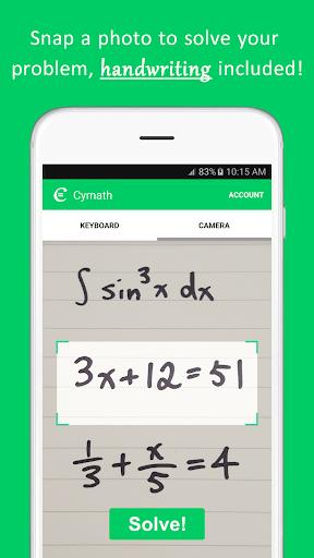 Cymath - Math Problem Solver  Screenshots 1