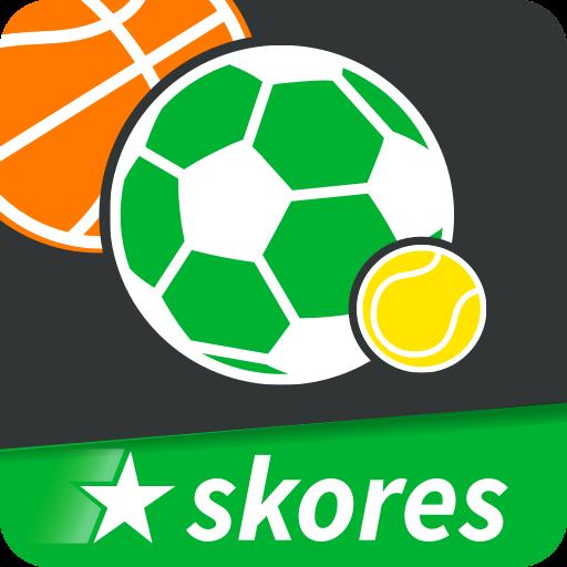 Logo de Skores Resultados en Vivo, una de las mejores apps de estadísticas de fútbol.