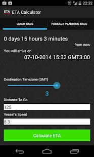 ETA Calculator For Marine Navigation