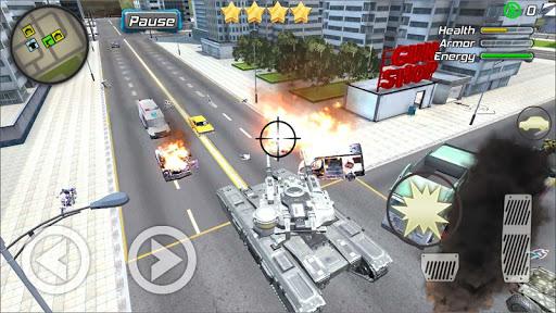 Crime Angel Superhero - Vegas Air Strike Apkfinish screenshots 12
