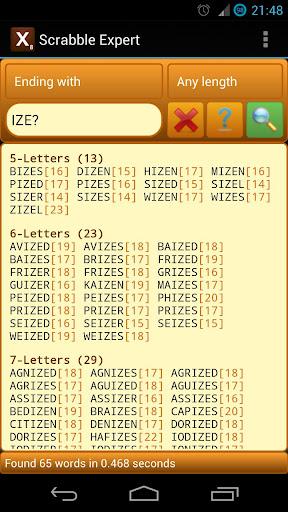 Word Expert (for SCRABBLE) screenshots 4