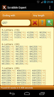 Word Expert (for SCRABBLE) 4.8.2 screenshots 4