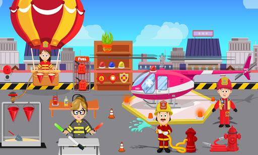 Code Triche feindre jeu ville Feu station: secours sim APK MOD Astuce screenshots 3