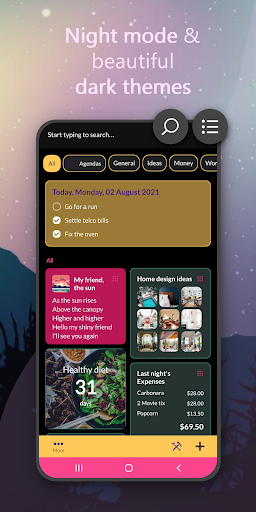 Wondr Note - Cute Notes, Lists, Countdown & more android2mod screenshots 2
