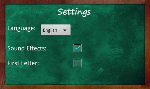 Educational Hangman in English 2.67 screenshots 6