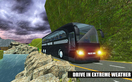 US Police Bus Mountain Driving Simulator  screenshots 16