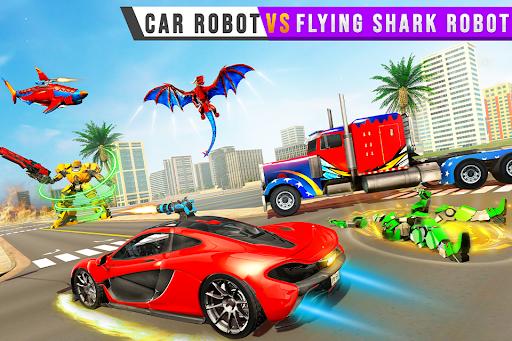 Real Shark Robot Car Game u2013 Police Truck Robot  screenshots 2