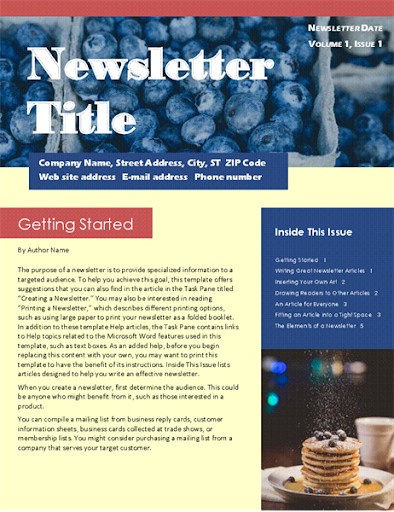 Free Email Newsletter Templates  screenshots 13