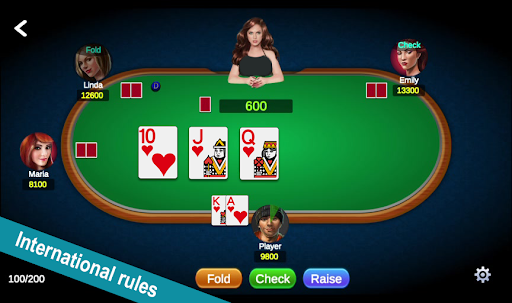 Poker Offline Free 2021 - Texas Holdem With Girl  screenshots 1