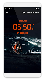 LED Digital Clock Live Wallpaper Screenshot