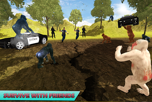 Gorilla Escape City Jail Survival screenshots 5