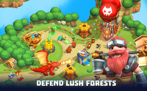 Wild Sky TD: Tower Defense Legends in Sky Kingdom  screenshots 9