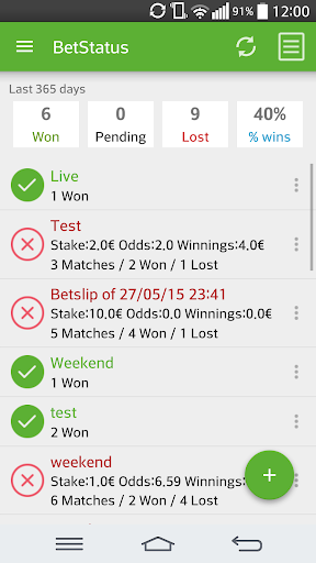 Foto do BetStatus - My Bet Slip Live
