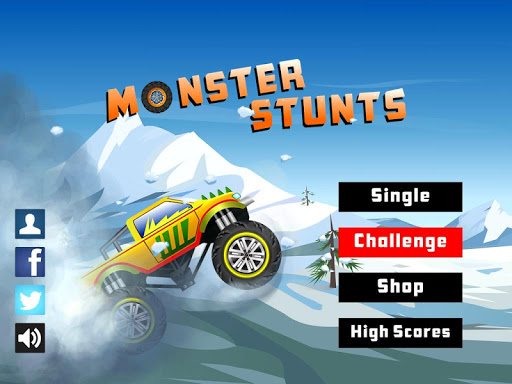 Monster Stunts -- monster truck stunt racing game apkslow screenshots 6