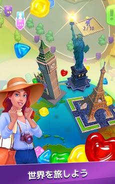グミドロップ!– 3つのグミをそろえて世界を旅しながら観光地を再建するトラベル系マッチ3パズルゲームのおすすめ画像3