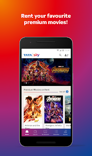 Tata Sky Mobile- Live TV, Movies, Sports, Recharge Mod 11.0 Apk (Unlocked) 3