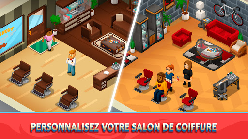 Code Triche Idle Barber Shop Tycoon - Jeu de commerce APK MOD (Astuce) screenshots 4