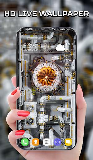 Cyberpunk 3D Wallpaper & Custom Keyboard - Sci Fi  screenshots 1