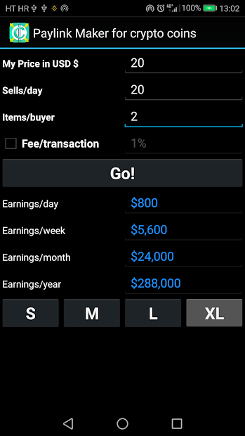 PayLink Maker for crypto currency coins screenshot 5