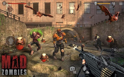 Zombie Spiele : MAD ZOMBIES Screenshot