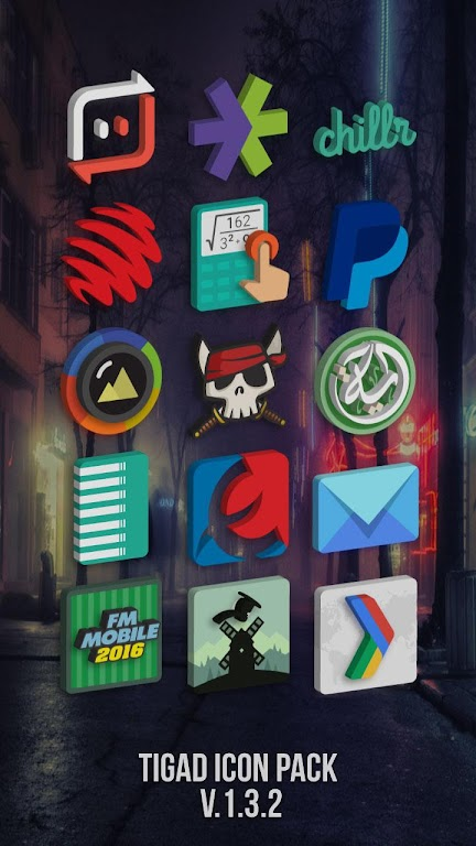 Tigad Pro Icon Pack  poster 1