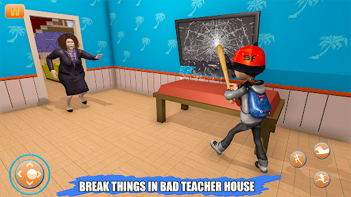 Scary Bad Teacher 3D - House Clash Scary Games  screenshots 6