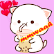 Mochi Cat Peach stickers for WhatsApp - Androidアプリ