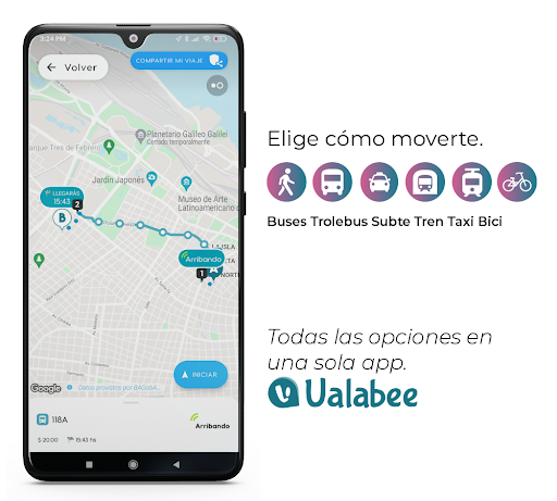 Ualabee -  Routes, stations, stops and schedules  screenshots 1