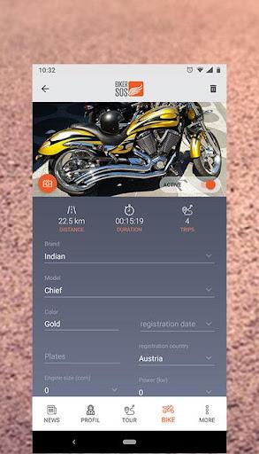 bikersos - motorcycle trip gps tracker & sos screenshot 3