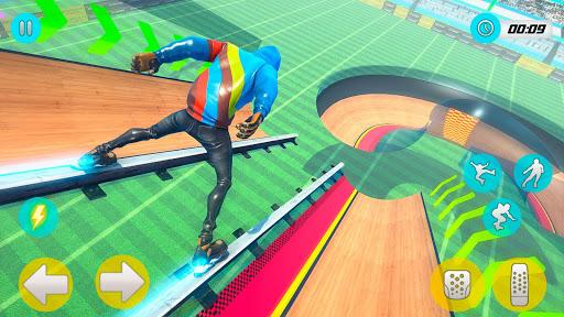 Sky Roller Skate Stunt Games 2021 - Roller Skating 2.1 screenshots 4