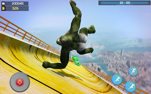 Crazy Gorilla GT Rampage-Superhero Mega Ramp Stunt apkdebit screenshots 3