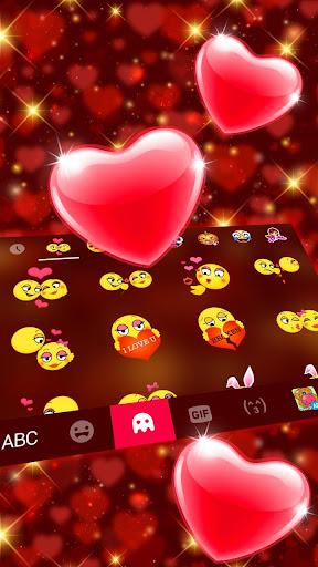 Red Heart Keyboard Theme 2.3 Screenshots 4