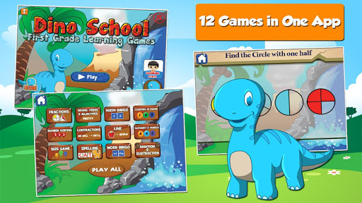 Dino 1st Grade Learning Games 3.18 screenshots 1