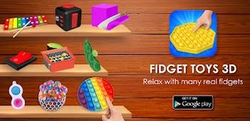 Jugar a Fidget Toys 3D - Fidget Cube, AntiStress & Calm gratis en la PC, así es como funciona!