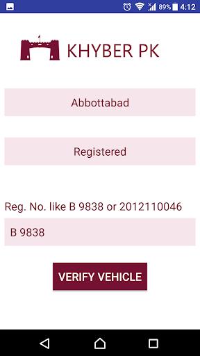 Vehicle Verification Pakistan  Screenshots 6
